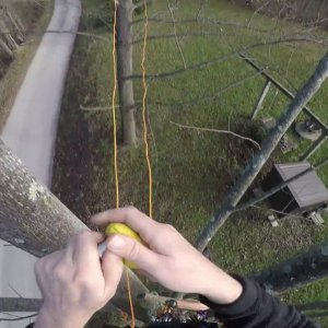 25' Tree to Tree Traverse - one throwline & rare earth magnet method